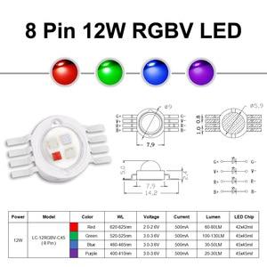 Image 5 - Super Luminoso 4W 12W RGBW RGBWW RGBV Circuito Integrato del LED COB 3W Rosso Verde Blu Bianco Viola Pieno colore FAI DA TE Della Fase DEL DJ DMX Luce Della Lampada Bar Lampadina