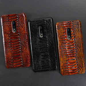 Image 5 - Genuine Leather Phone Case For Meizu 16th Plus 16 16X 17 Pro 7 Plus Cases Luruxy  Cowhide Ostrich Foot Texture Back Cover