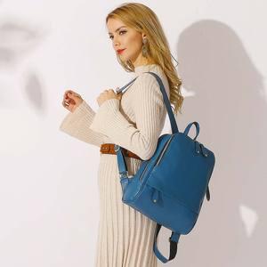 Image 2 - Mochila De piel auténtica para mujer, nueva oferta de bolsos de viaje femeninos, mochilas escolares prácticas para niñas, Notebook de gran capacidad, 100%