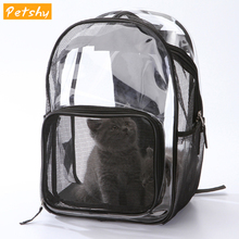 Petshy Portable Breathable Pet Carrier Bags Cat Small Dogs Space Transparent Cat Puppy Window Carrying Cage Pet Travel Backpack