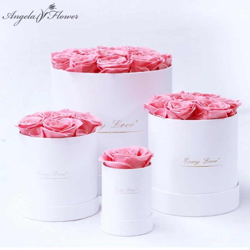 Ewige Leben Blume Unsterblich Rose mit Umarmung Eimer Box Geschenk Konservierte Blume in Box Set Mutter der Tag Romantische Valentines tag Geschenk
