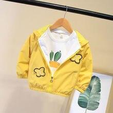 BibiCola джинсовый жакет для маленьких девочек милые сердцу детская верхняя одежда для девочек с длинным рукавом осень весна джинсовая куртка одежда