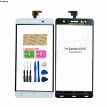 5.5'' Mobile Phone Touch Screen Front Glass For Senseit E500 Touch Screen Glass Digitizer Panel Lens Sensor Adhesive
