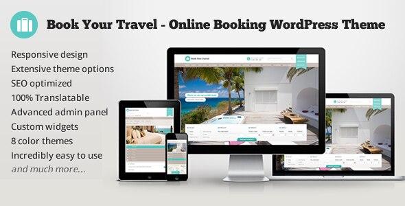 Book Your Travel 酒店名宿预订WordPress主题