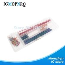 10strip = 140pcs Hot Sell 140pcs U Shape Solderless Breadboard Cable Wire Kit Shield For raspberry