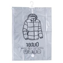 Прозрачный вакуумный мешок чехол для одежды для защиты от пыли одежды костюм Висячие Чехлы одежда платье для хранения и переноски сумка герметичные сумки для экономии пространства пакет