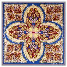 2020 ビッグスクエアシルクレディース高級ブランドツイルスカーフショール蝶プリント卸売 130*130 センチメートル冬のスカーフの女性