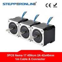 4 di piombo Nema 17 Stepper Motor Nema17 Motore 42BYGH 40 millimetri 17HS4401 2A 45Ncm (64oz. in) 1m Cavo Passo Motore per il FAI DA TE CNC 3D Stampante
