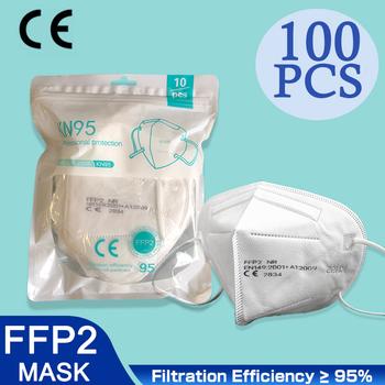 100 sztuk CE FFP2 maska 5 warstw KN95 maski przeciwpyłowe maska ochronna FPP2 Mascarillas filtr Respirator FPP3 FFP3 wielokrotnego użytku tanie i dobre opinie POWECOM Z Chin Kontynentalnych EN 149-2001 + A1-2009 Z włókniny CE FFP2 KN95 MASK FFP3 10 5*15 5CM 100 PIECES