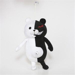 Image 2 - Jouet en peluche 35cm, pour accompagner le dessin animé japonais Super 2, ours en peluche doux, Monokuma noir et blanc, poupées, cadeau de noël