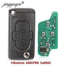 Пульт дистанционного управления jingyuqin ASK/FSK, 433 МГц, 4 кнопки, для Peugeot 1007, для Citroen C8 VA2/HU82 Blade CE0523