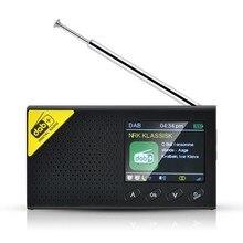 Портативное цифровое Bluetooth-радио DAB/DAB + и FM-приемник, перезаряжаемое радио