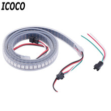 New Fashion Decoration Light Strip High Light 1M 144LED WS2812B 5050 RGB LED Strip Light Waterproof Addressable Decoration