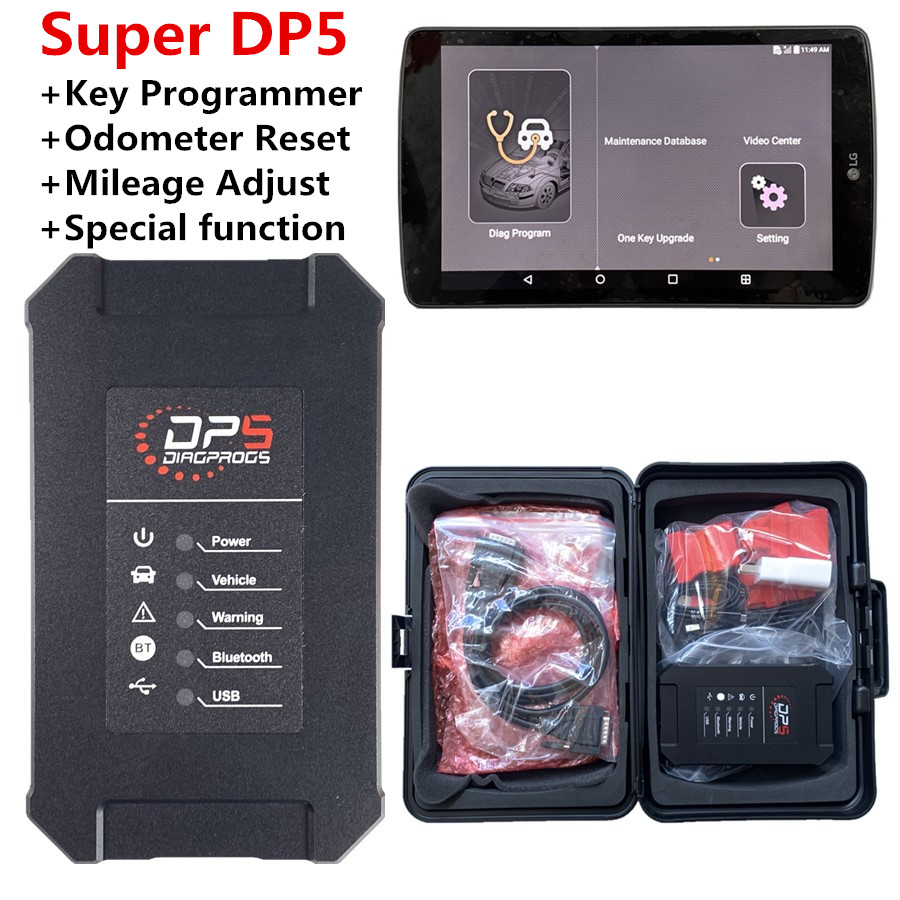 Best Function DP5 Key Programmer Tool Support Andriod OBDII Diagnostic Tool  Car Diagnostic System Automatic Odometer Reset Tool