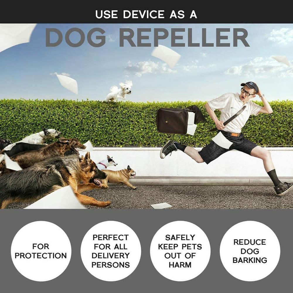 Pet Dog Repeller Anti Barking Stop Bark Training Device Trainer LED Ultrasonic Anti Barking Ultrasonic Without Battery-5