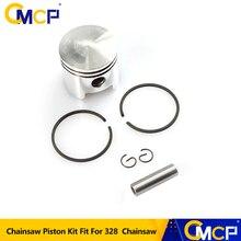 CMCP 36mm Zylinder Kolben Ring Kit Fit Für Kettensäge 328 Kettensäge Kolben Ring Pin Set Kettensäge Ersatzteile