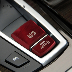 Car Styling Central Handbrake Auto H Button Cover Stickers Trim stainless steel For BMW 5 6 7 Series F10 GT F07 X3 f25 X4 f26 X5
