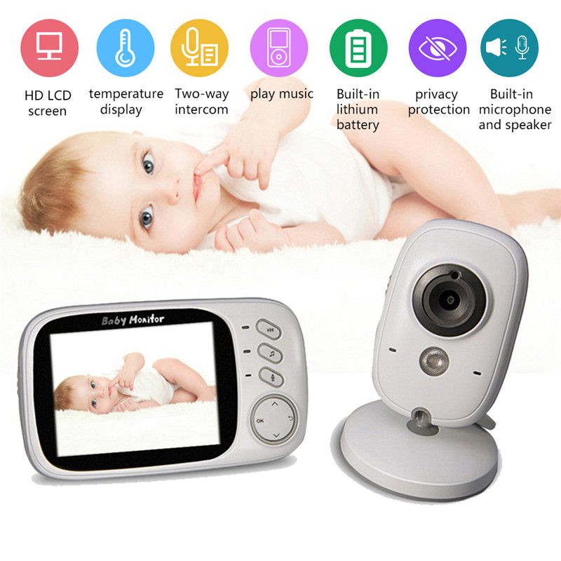 Infant Wireless Video Baby Radio Babysitter Digital Baby Sleep Monitor Audio Night Vision Temperature Monitoring Radio Nanny