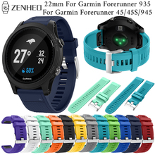 цена 22mm silicone Quick release strap For Garmin Forerunner 935 band accessories For Garmin Forerunner 45/45S/945 Smart Watch band онлайн в 2017 году