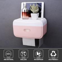 Wall-Mounted Toilet Paper Box Home Bathroom Punch Free Tissue Kitchen Napkin Dispenser Makeup Holder