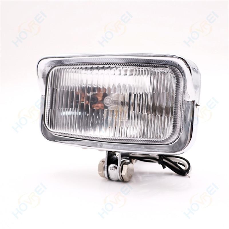 Stirnlampe Backbayia H4 12 V//55 W Motorrad-Scheinwerfer Cafe Racer f/ür Cruiser