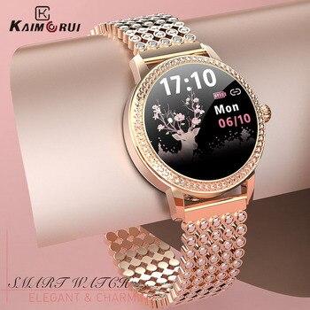 Diamond-studded Smart Watch 2021 For Women Lovely Steel Sport Watch IP68 waterproof Fitness bracelet Heart Rate LW20 Smartwatch 1