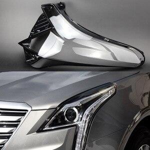 Image 4 - 자동차 헤드 라이트 렌즈 캐딜락 XT5 2016 2017 2018 헤드 램프 커버 교체 자동 쉘 밝은 램프 그늘 쉘 캡 갓