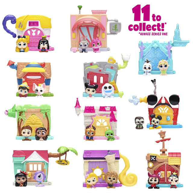 Disney Doorables Frozen Elsa Olal Mickey Minnie Judy Pinocchio Rapunzel Alice Snow White Belle Princess Blind Box Girl Kids Toys 5