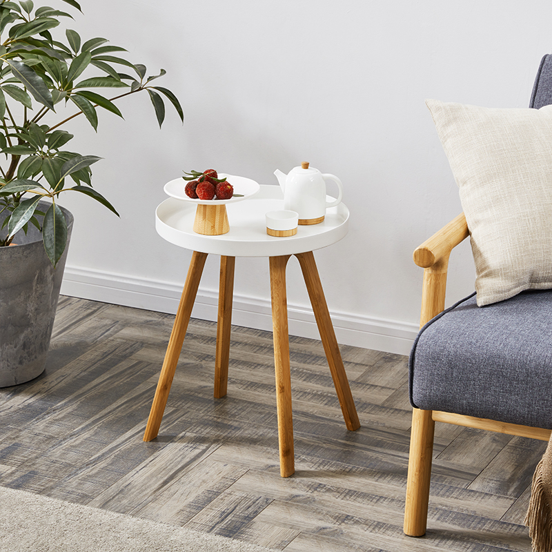 White Side Table Small Coffee