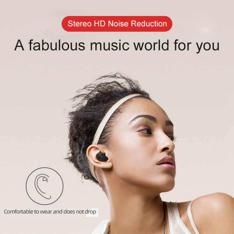 E6S TWS bluetooth אוזניות אוזניות עבור Xiaomi Redmi AirDots אלחוטי אוזניות TWS אוזניות רעש ביטול מיקרופון אוזניות PK M1