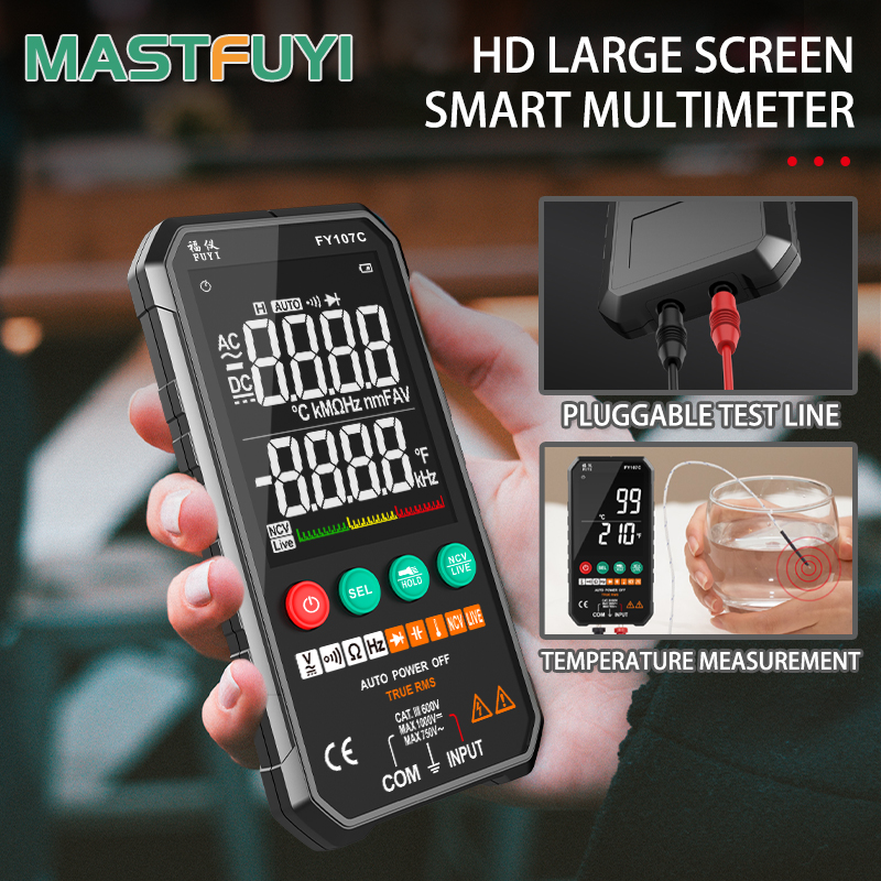 2020 NEW Generation 6000counts Digital Multimeter Ture RMS AC DC NCV Transistor Capacitor  Temperature Voltage Smart Meter