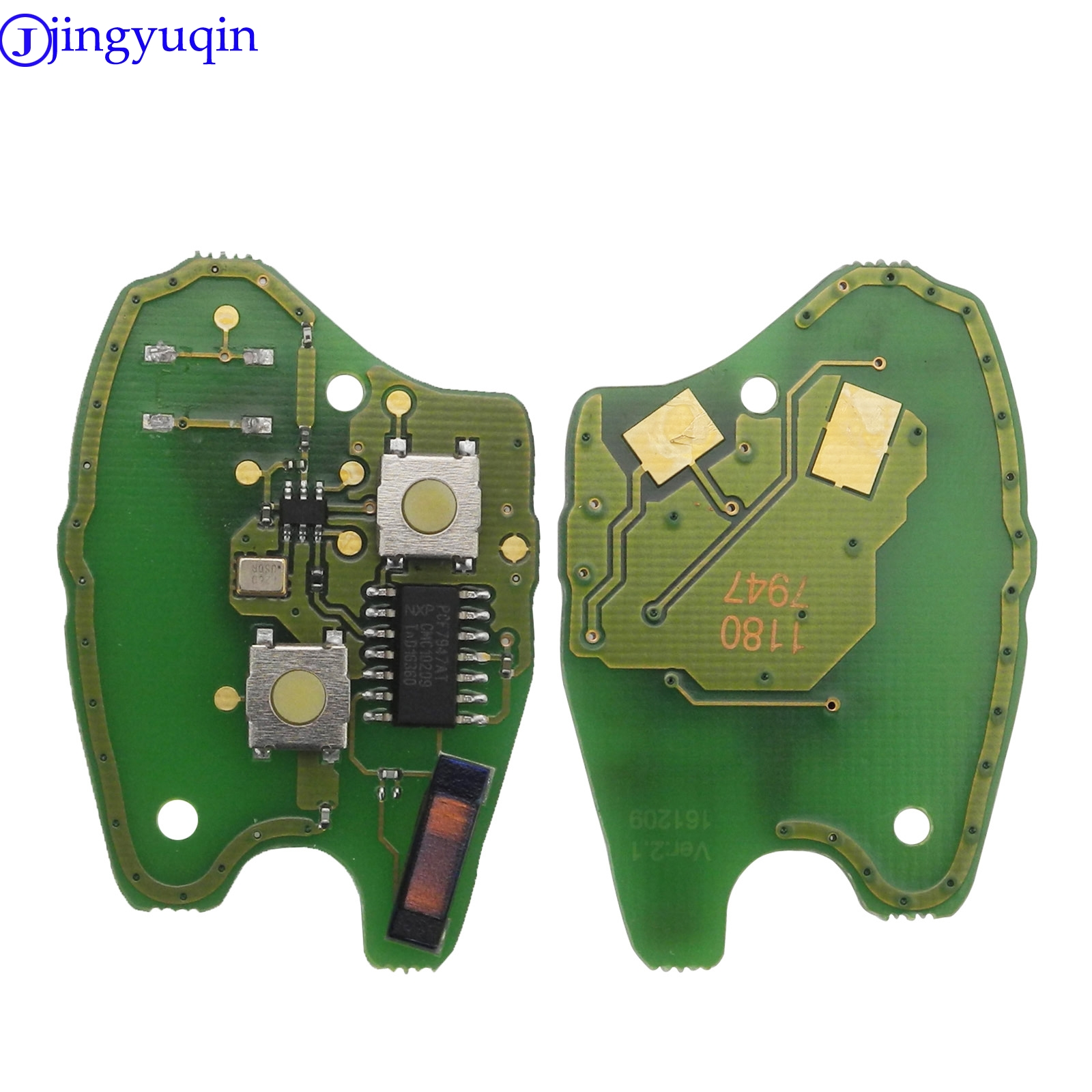 Jingyuqin 2/3BTN Car Remote Key Circuit Board Suit For Renault Clio Scenic Kangoo Megane PCF7946 / PCF7947 Chip