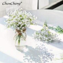 CHENCHENG, 1 шт., белые дышащие искусственные цветы для младенцев, искусственные Гипсофилы, сделай сам, Цветочные букеты, свадебное украшение для дома, осень
