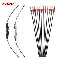 30/40LBS arc droit fendu 51 pouces arc d'entrée avec flèches pour enfants jeunes tir à l'arc chasse tir enfants arc