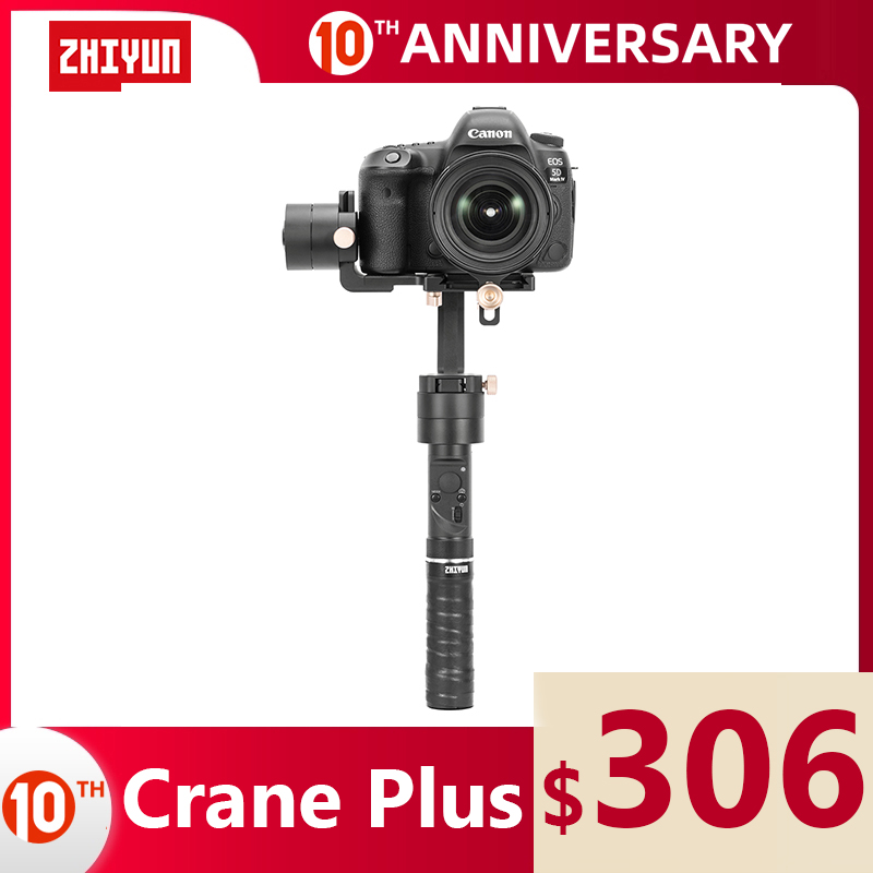 ZHIYUN Official Crane Plus 3 Axis Stabilizer Handheld Gimbal 2500g Payload for Mirrorless DSLR Camera Support POV Mode VS Crane2|Handheld Gimbals| |  - title=
