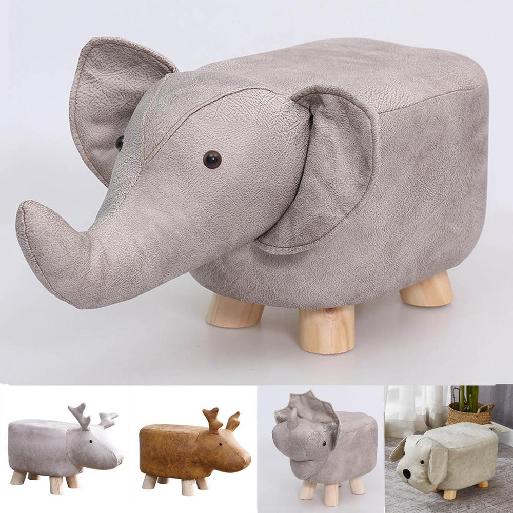 Animal Children's Stool Footstool Ottoman Pouf Pouffe Stool Rest Padded Seat Sofa Chair Bench