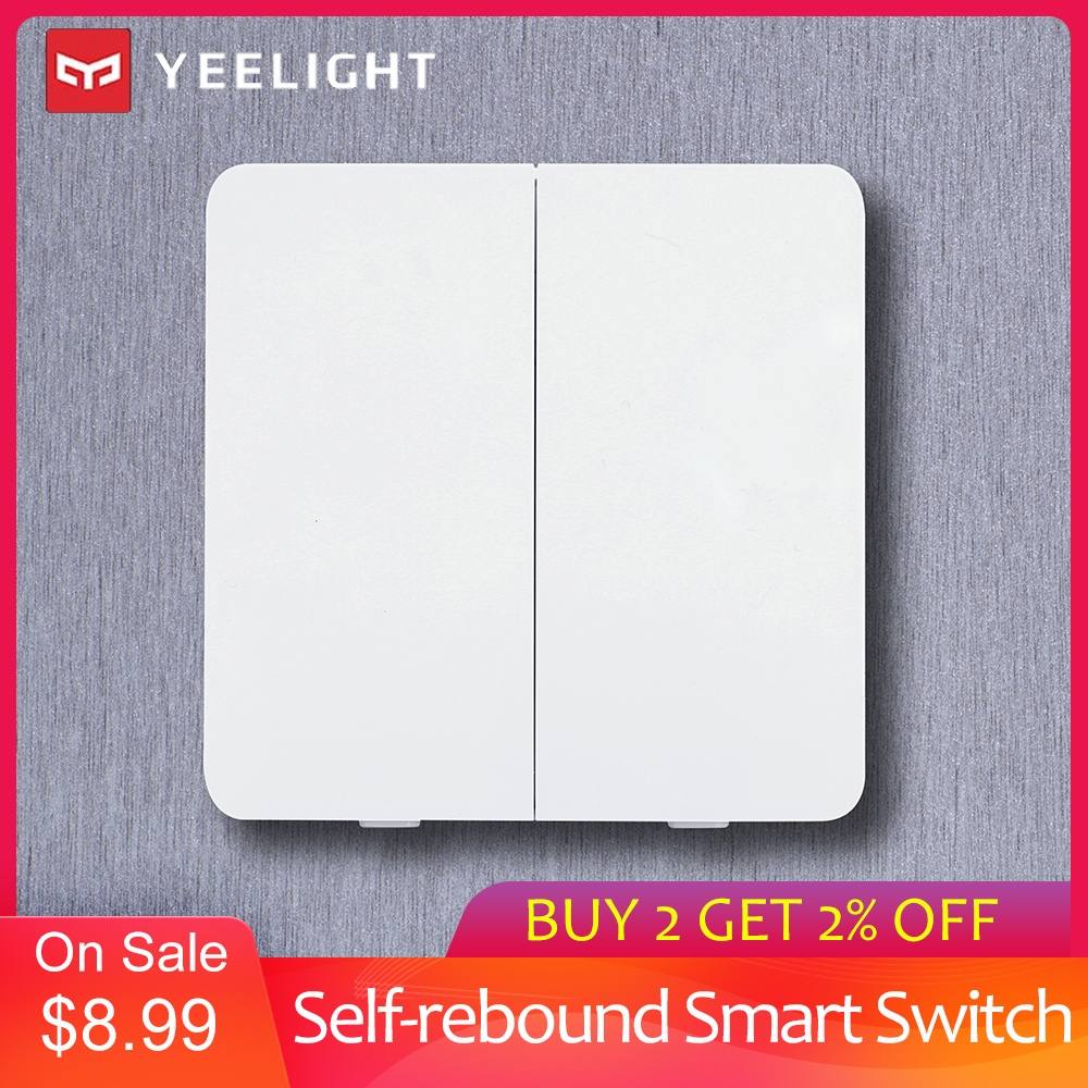 Yeelight Smart Switch Self-rebound Design YLKG12YL/YLKG13YL/YLKG14YL