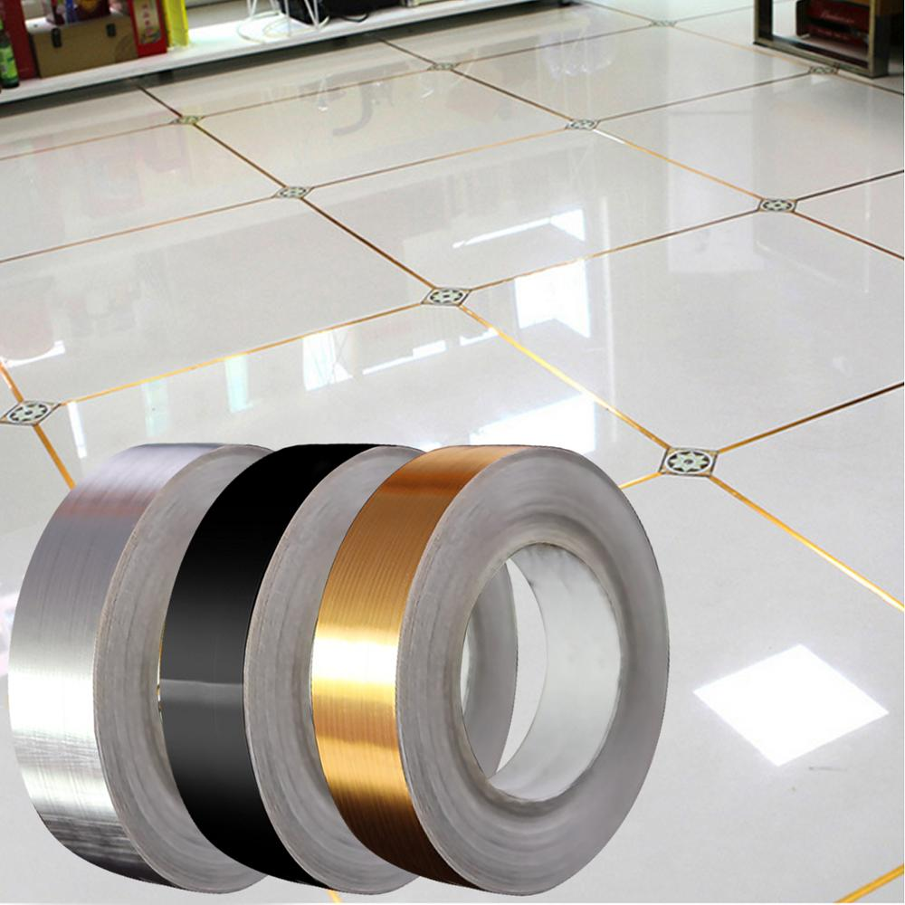 1 Roll Seam Line Tile Stick Self Adhesive Waterproof Ceramic Wall Floor Crevice Line Sticker Decoration Tape 0.5cm/1cm/2cm Width image