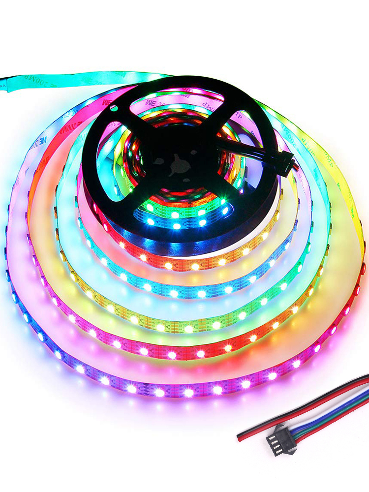 Upgraded WS2815 WS2813 Addressable 5050 RGB LED Strip Light 5V DC 12V LED 30led/m 60led/m 144led/m LED Flex Strip Lights