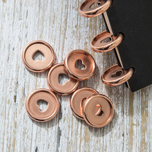 30PCS Heart Notebook Plastic Disc Binding Mushroom Hole DIY 360 DegreeDisc Buckle Office Supplies