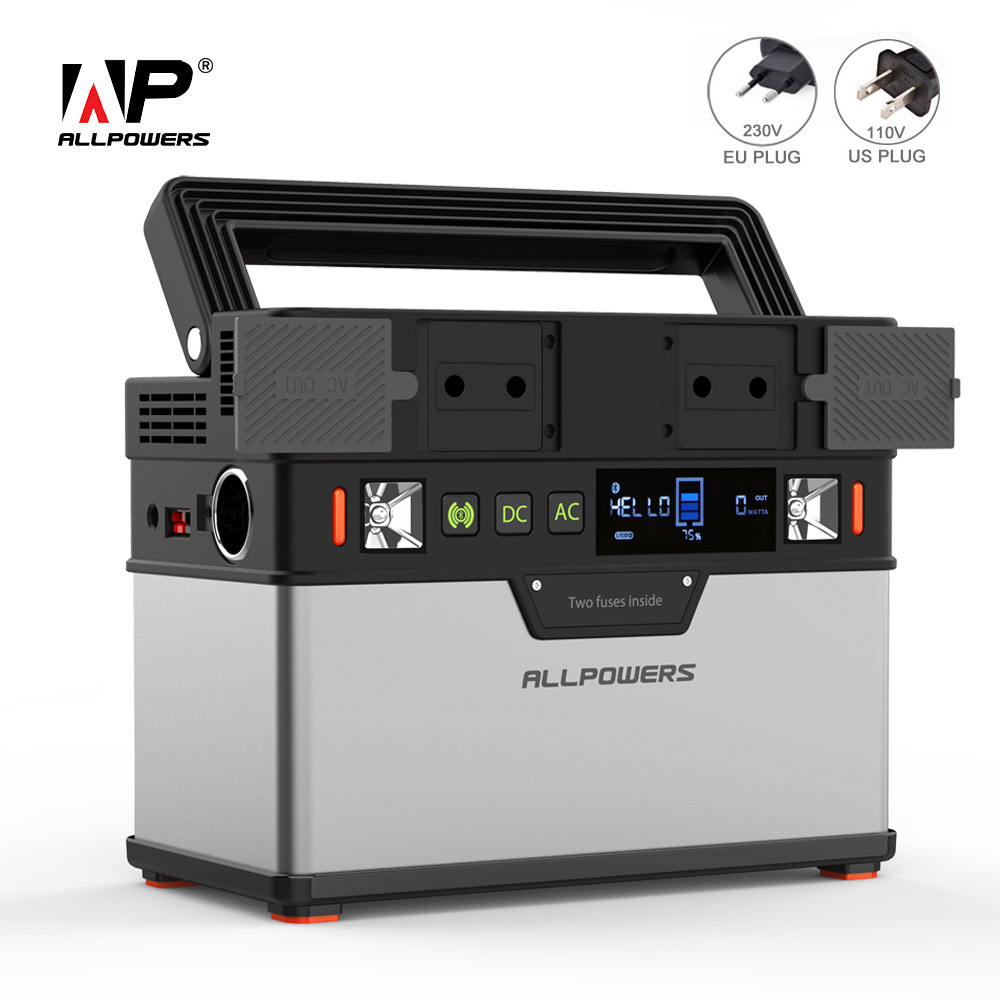 ALLPOWERS 110V 230V banco de energía 100500mAh cargador de batería externo portátil para ventiladores de teléfono celular TV refrigerador de coche drone portátil