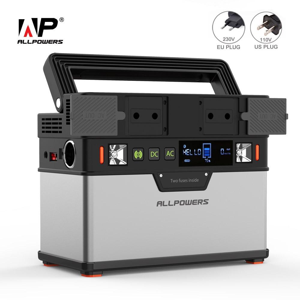 Allpowers 110 v 230 v power bank 100500 mah portátil carregador de bateria externa para ventiladores de telefone celular tv carro geladeira zangão portátil
