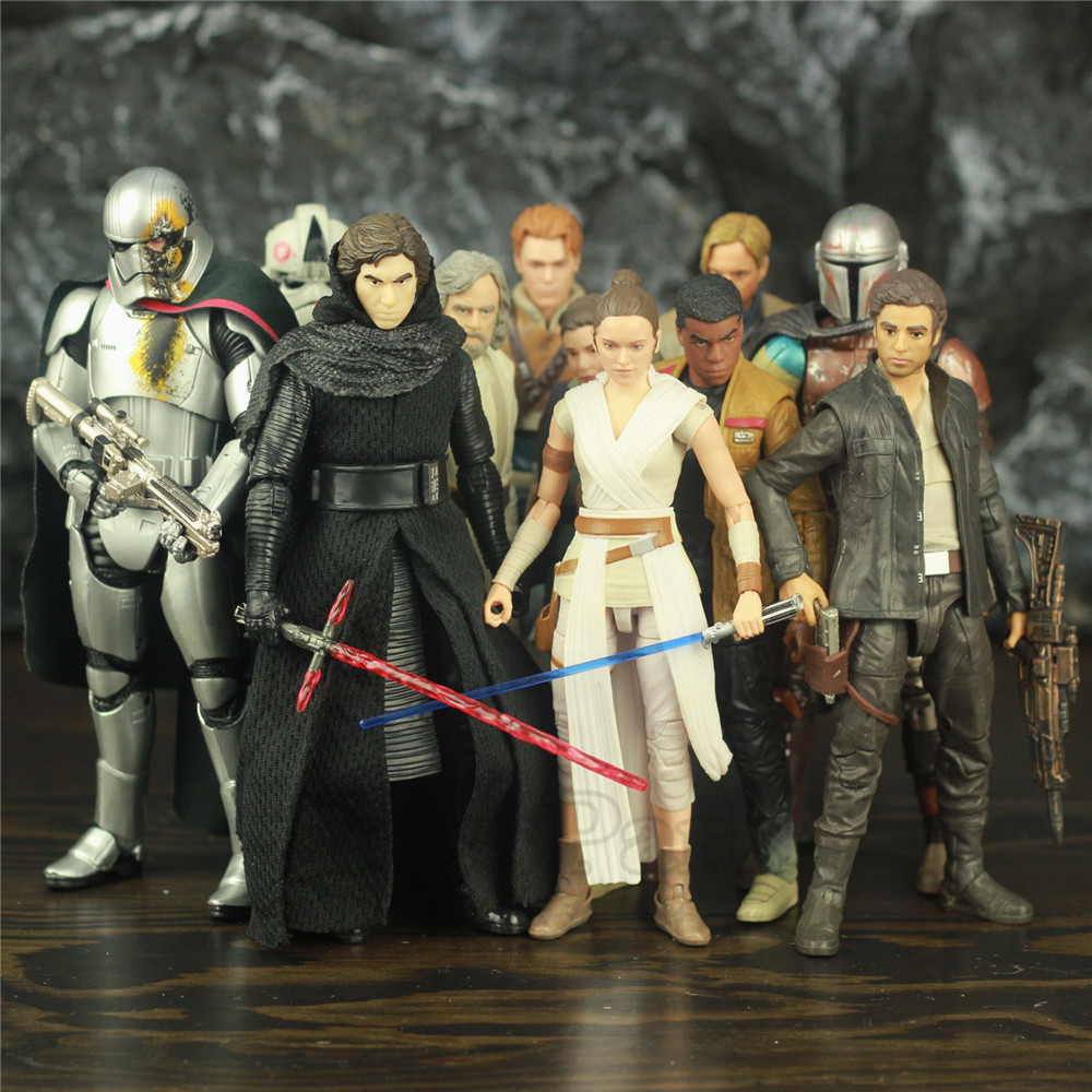 "Star Wars 9 Rise Skywalker 6"" Action Figure Rey Ren Dameron Luke Skywalker Darth Vader Trooper C3PO Original Black Series Toys"