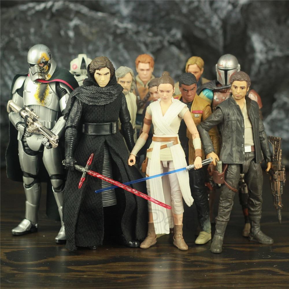 "Star Wars 9 Rise Skywalker 6"" Action Figure Rey Ren Dameron Luke Skywalker Darth Vader Trooper C3PO Original Black Series Toys"