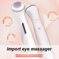 Электрическое мини устройство для массажа глаз ручка против морщин Удаление темных кругов отечность Вибрация тонкие лица Температура глаз...