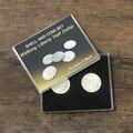 Набор «ходячая свобода», полудоллар, оболочка и монета (4 монеты, 1 оболочка), магические трюки, крупный план, иллюзия, трюк, монета, появляются...