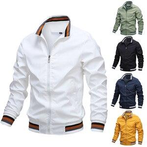 Autumn Zipper Bomber Jacket Men Casual Hip Hop Slim Fit Coat Male Windbreaker Sportswear Coat Outwear 2020 Winter Jackets