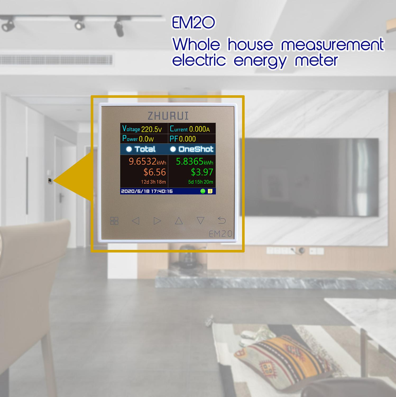 Whole With 120A 80 ER The EM20  External 40 Measure Electricity Meter  Energy Currency House  EM20 Relay  23 Meter ZHURUI 60