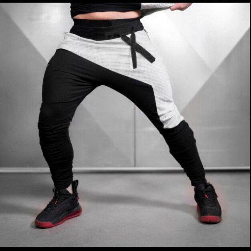 Trousers Shin-Pants Tight Training Sports-Workout Musclebuilding Fitness Gym Men title=