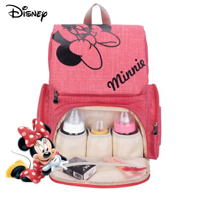 Disney Mickey Minnie Baby Diaper Mom Mummy Bags Maternal Stroller Bag Nappy Backpack Maternity Organizer Travel Hanging Newborn